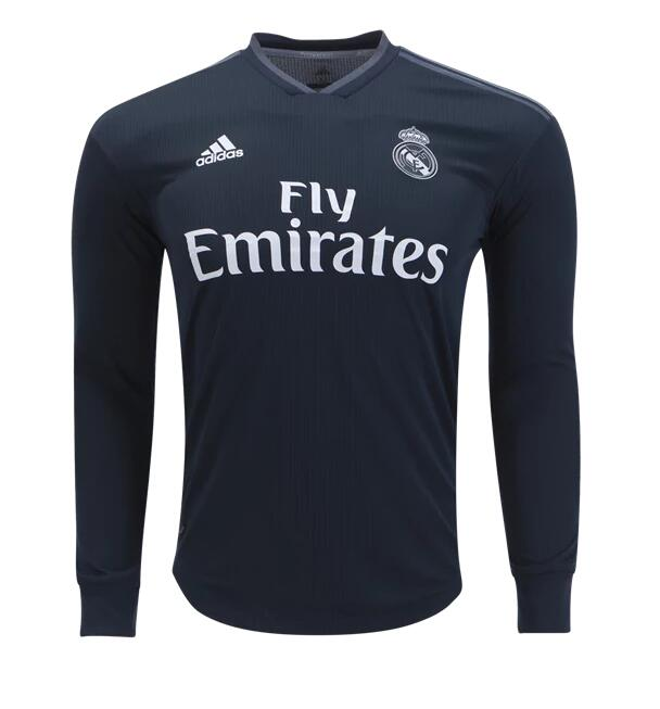 Camiseta Real Madrid 2a Equipacion 2018 Manga Larga