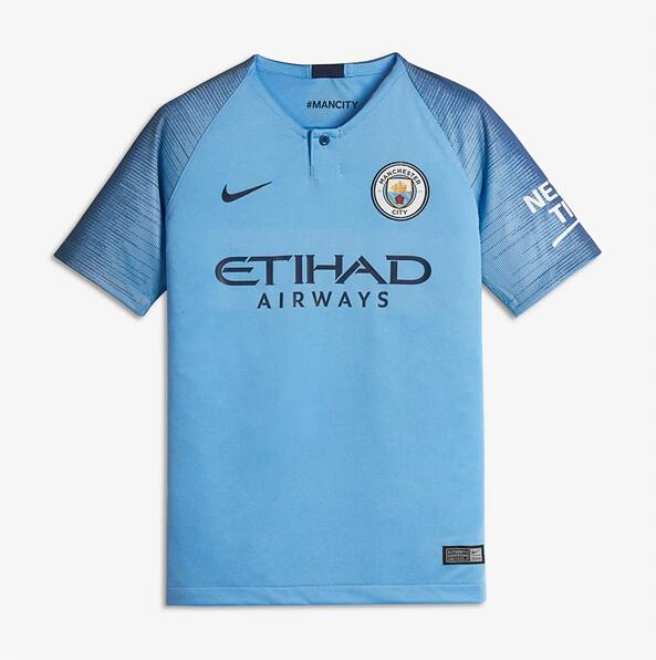 Camiseta Del Manchester City 1a Equipación 2018/19 JUNIOR