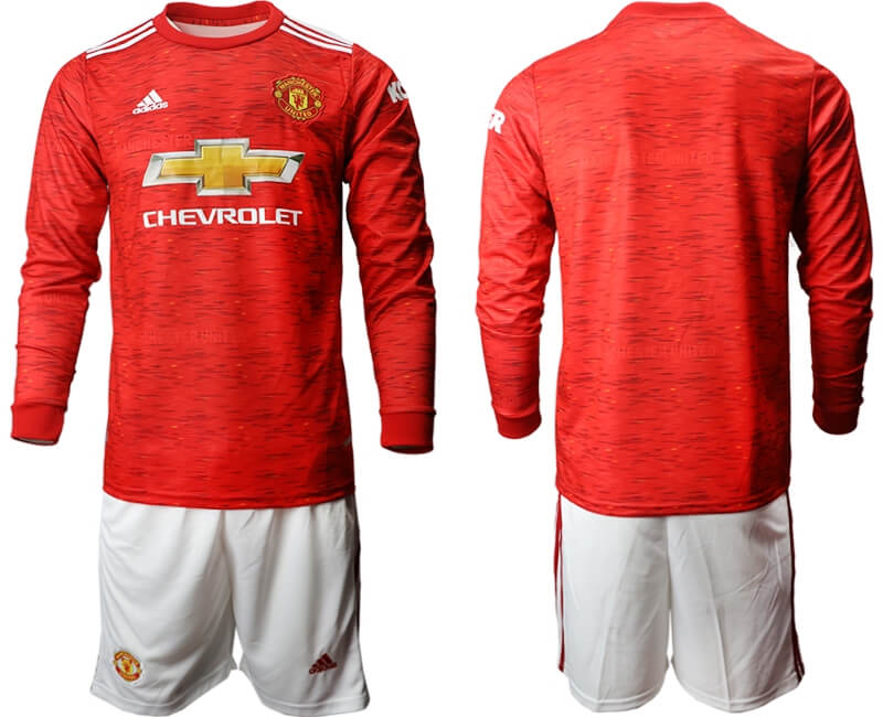Camiseta De La Equipación Local Del Manchester United 2020-2021 Manga Larga