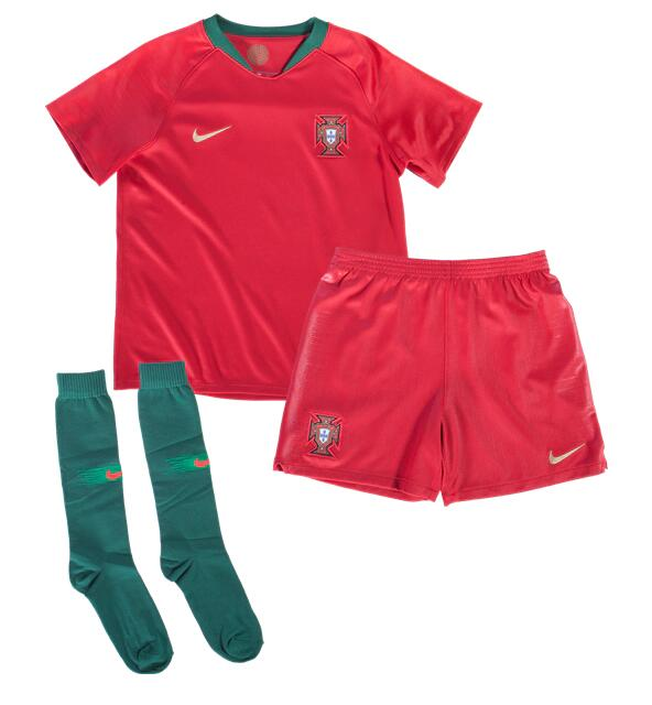 CAMISETA Portugal 2018 Little Boy's PRIMERA EQUIPACIÓN Kit
