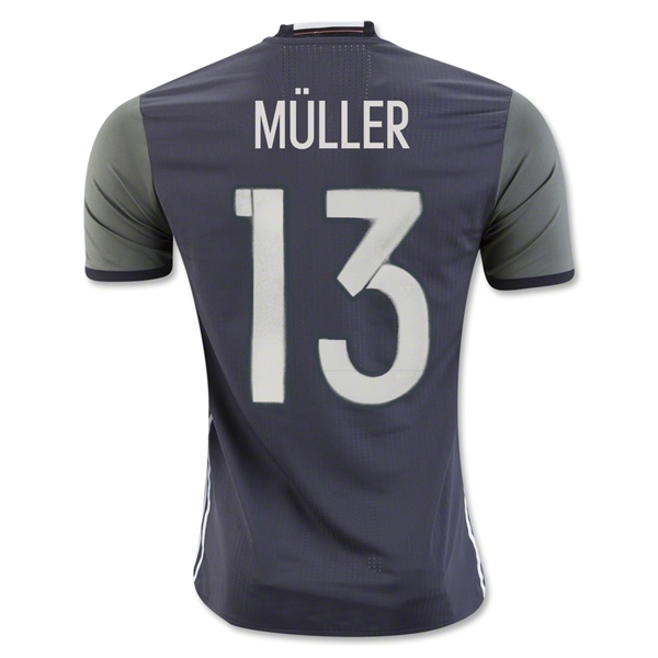 CAMISETA ALEMANIA 2016 MULLER Authentic SEGUNDA EQUIPACIÓN
