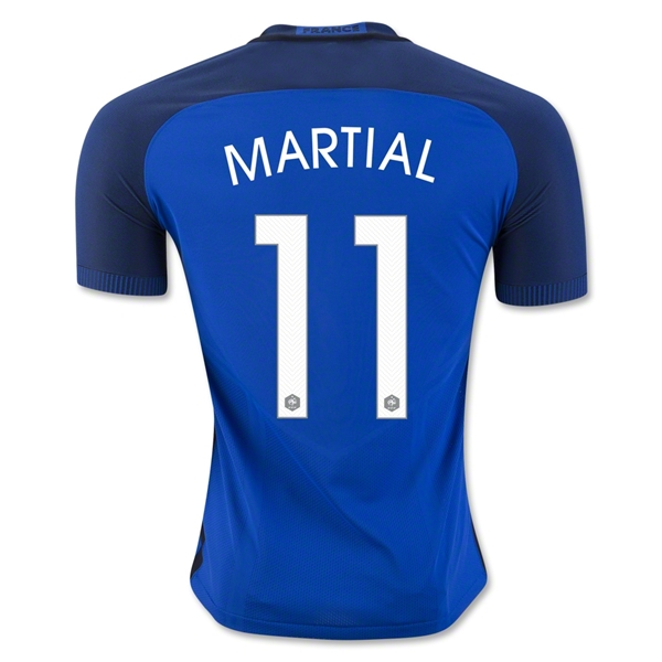 CAMISETA France 2016 MARTIAL Authentic PRIMERA EQUIPACIÓN
