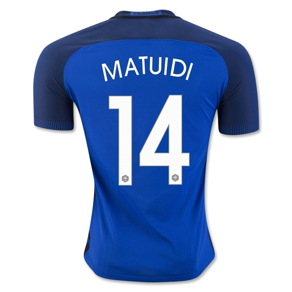 CAMISETA France 2016 MATUIDI Authentic PRIMERA EQUIPACIÓN