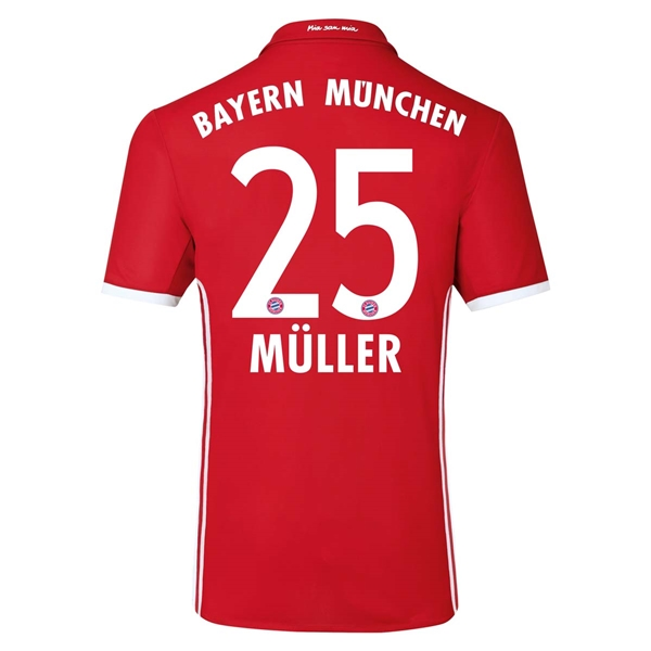 CAMISETA Bayern Munich 16/17 MULLER Authentic PRIMERA EQUIPACIÓN