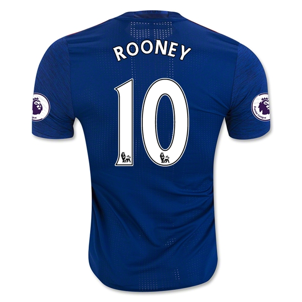CAMISETA Manchester United 16/17 ROONEY Authentic SEGUNDA EQUIPACIÓN