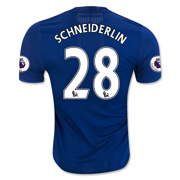 CAMISETA Manchester United 16/17 SCHNEIDERLIN Authentic SEGUNDA EQUIPACIÓN