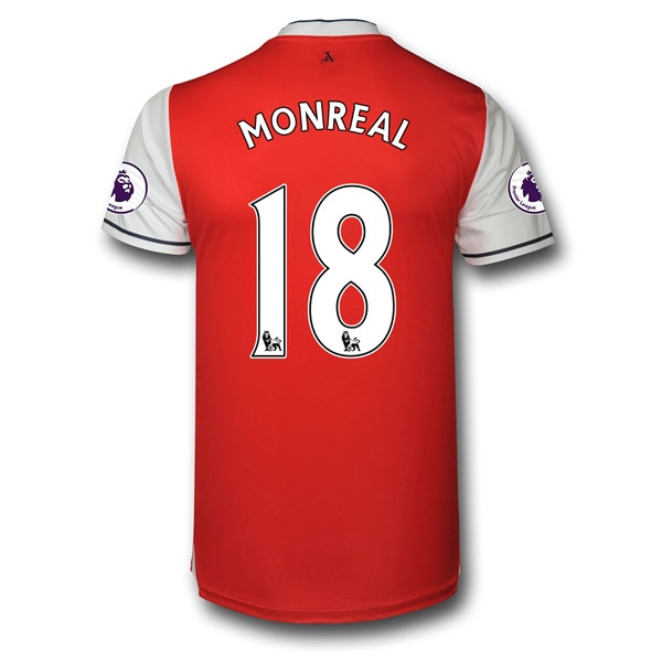 CAMISETA Arsenal 16/17 18 MONREAL Authentic PRIMERA EQUIPACIÓN