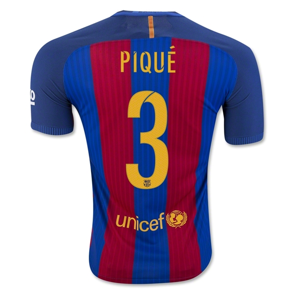 CAMISETA Barcelona 16/17 PIQUE Authentic PRIMERA EQUIPACIÓN