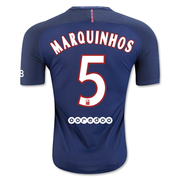 CAMISETA Paris Saint-Germain 16/17 MARQUINHOS Authentic PRIMERA EQUIPACIÓN