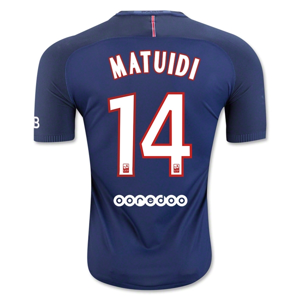 CAMISETA Paris Saint-Germain 16/17 MATUIDI Authentic PRIMERA EQUIPACIÓN