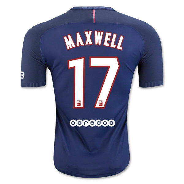 CAMISETA Paris Saint-Germain 16/17 MAXWELL Authentic PRIMERA EQUIPACIÓN